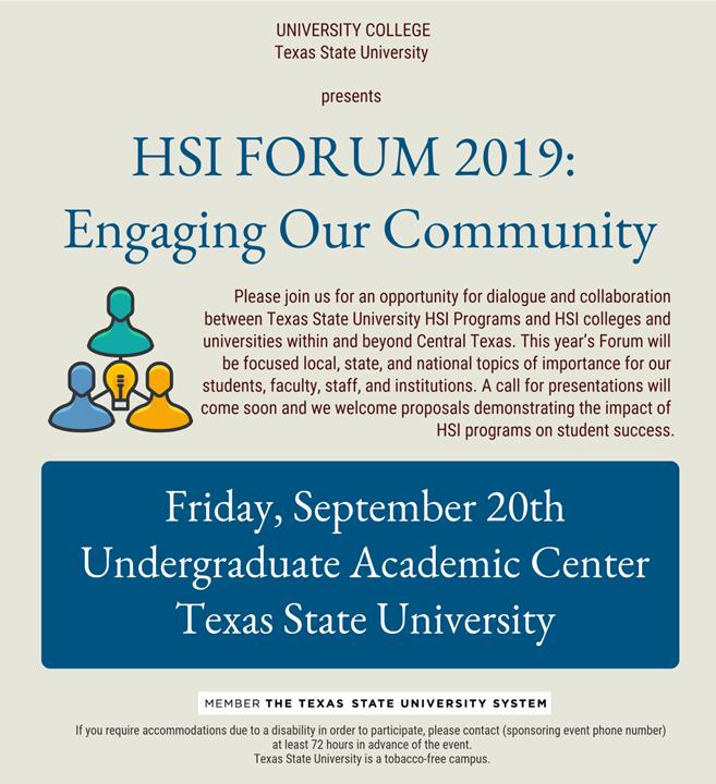 HSI Forum 2019 TxState